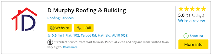 Roofing Services in Hatfield Yell Reviews